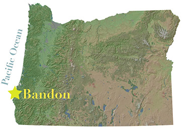 bandon oregon map